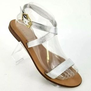 J.Crew Silver leather sandals